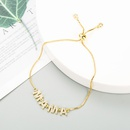 Fashion Pullable Adjustable Round Bead Microinlaid Zircon Copper Bracelet  NHLN347378