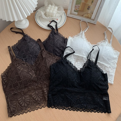 Beauty Back Lace Brustpolster einfarbiges Leibchen NHZN347475's discount tags