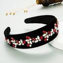 fashion flower new style rhinestone gold velvet headband NHLN347472