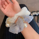 Korea new fashion style pearl solid color hair scrunchies  NHCQ359601