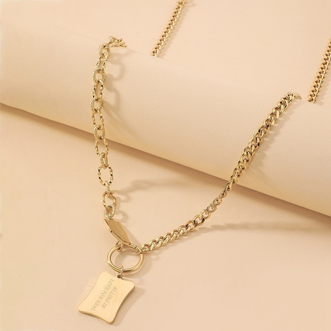 fashion style new titanium steel chain letter necklace NHNJ359677's discount tags