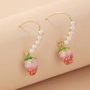 Korean style cute pearl peach ear hooks  NHNJ359709