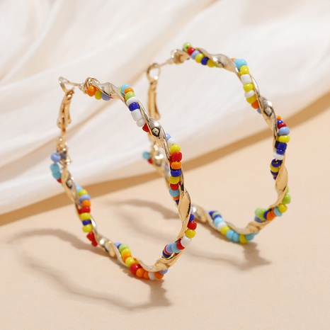 fashion retro bohemian ethnic style bead earrings  NHKQ359742's discount tags