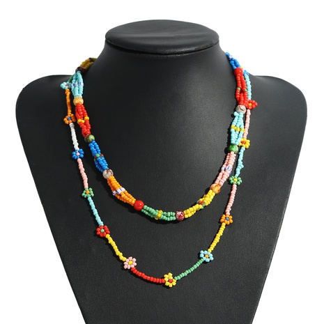 bohemian rice bead necklace multi-layer necklace  NHJQ359896's discount tags