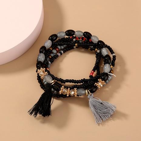 Retro Bohemian wild rice beads tassel multi-layer bracelet NHAN359928's discount tags