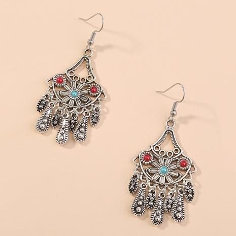 Bohemian retro long water drop tassel earrings NHAN359965's discount tags