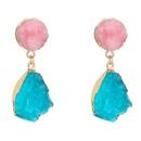 simple color crystal cluster water drop earrings NHAN359983