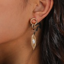 fashion style embossed natural freshwater pearl earrings NHAN359988