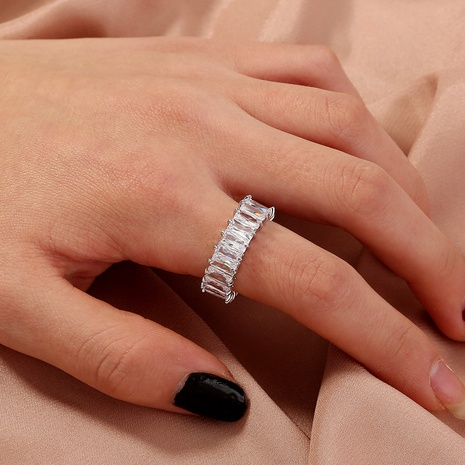 fashion diamond-set colorful zircon alloy ring wholesale  NHAN360014's discount tags