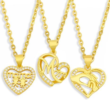 Mode einfache Brief Liebe Anhänger Halskette NHAS360118's discount tags