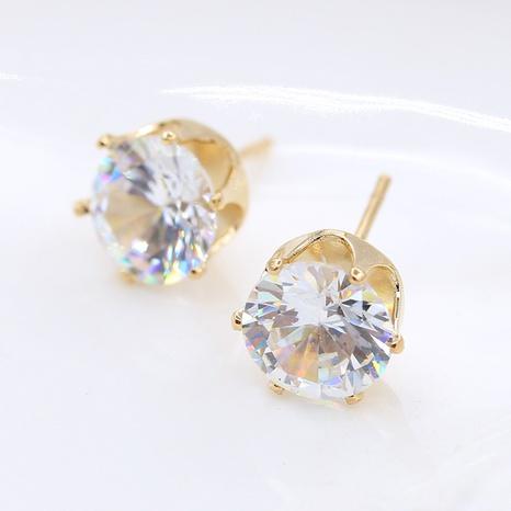 Boucles d'oreilles en cristal de zircon de fond de couronne de mode coréenne en gros NHDP360129's discount tags