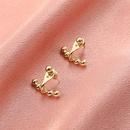 Korean simple twowear backhanging earrings NHDP360137