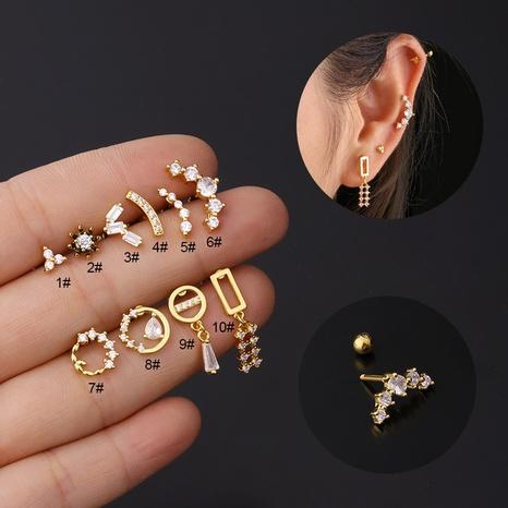 boucles d'oreilles en cuivre zircon NHEN360200's discount tags