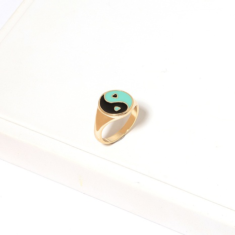 Korean contrast color dripping oil alloy ring wholesale  NHAI360248's discount tags