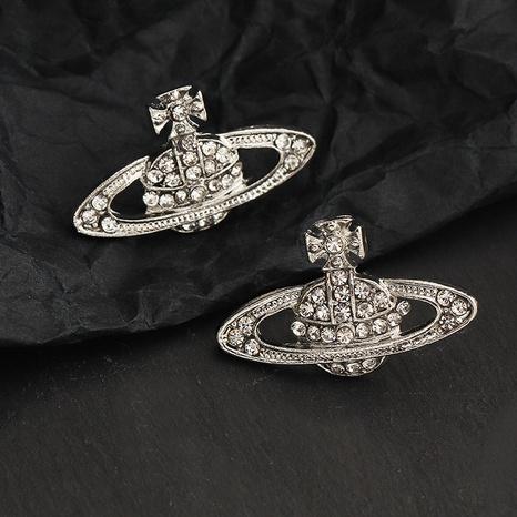 Pendientes de diamantes de moda Saturno NHPF365417's discount tags