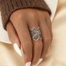 retro butterfly hollow thin ring  NHGU365482