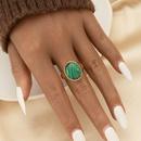 fashion retro semistone turquoise ring  NHGU365483