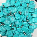 Fashion Rectangle Crystal Agate Stone Multicolor Necklace Pendant Wholesale NHJIC365552