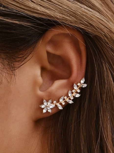 Simple and simple lady leaf earrings NHAJ366114's discount tags