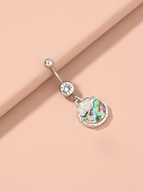 fashion abalone shell round umbilical belly button ring NHAN365650's discount tags