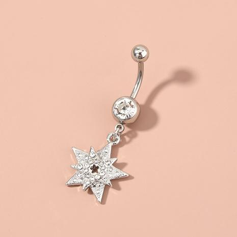 Modepiercing fünfzackiger Stern Diamant Zirkon Bauchnabelnagel NHAN365653's discount tags