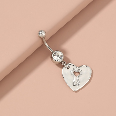 Fashion heart hollow pendant stainless steel belly button nail  NHAN365659's discount tags