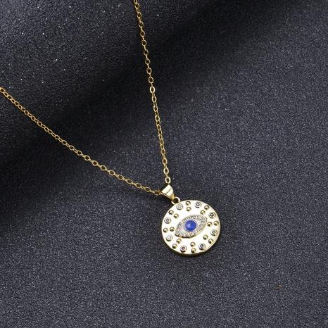 Collar con colgante de ojo de diablo turco de moda NHXIN365729's discount tags
