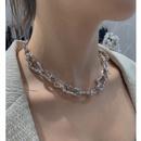 fashion irregular metal splicing long necklace  NHANR365777