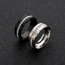 Simple wide single row full diamond zircon ring  NHSOM365796