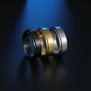 Simple Glossy Titanium Steel Decompression Rotating Ring  NHSOM365799