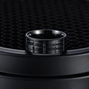 Simple stainless steel batch flower black plating ring NHSOM365809