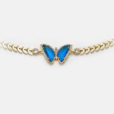 moda vidrieras mariposa collar de circón dorado dorado al por mayor NHWV365290's discount tags