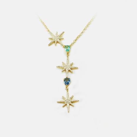 Nuevo collar de clavícula de estrella de mar de circón de moda NHWV365299's discount tags