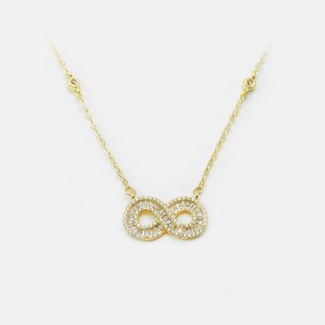 Collar con colgante de cruz redonda hueca chapado en oro de moda NHWV365301's discount tags