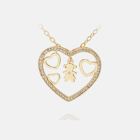 Fashion Boys and Girls Hollow Heart Pendant Necklace  NHWV365304's discount tags