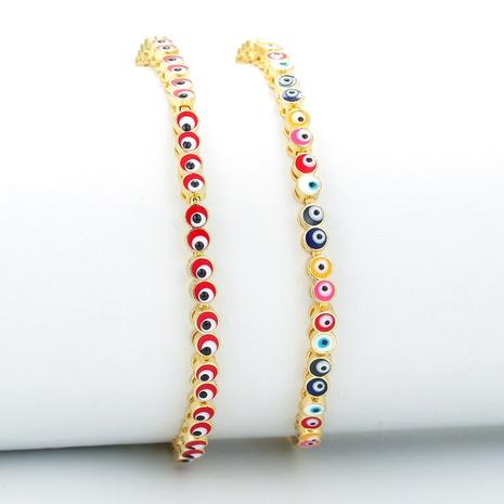 Retro eyes rainbow mixed color bracelet NHWG365368's discount tags