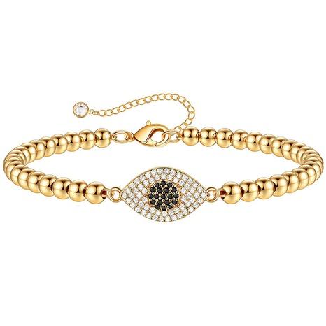 Retro Devil's Eye Round Bead Inlaid Zircon Bracelet NHJIF366059's discount tags