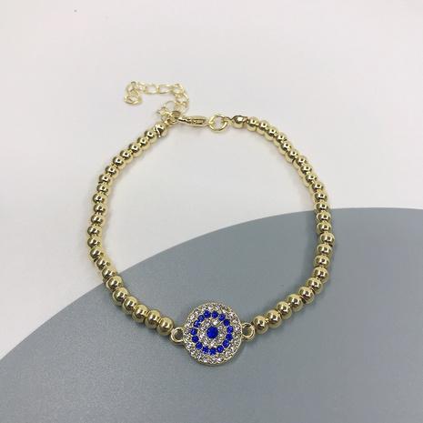 Retro Devil's Eye Round Bead Bracelet NHJIF366079's discount tags
