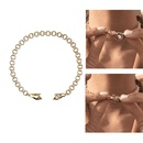 Retro Magnet Suction Clasp Handshake Shape Necklace  NHJIF366086
