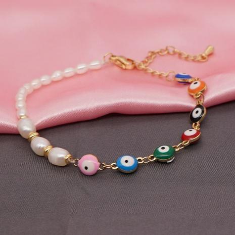 Bohemia Eye Beads Pearl Bracelet  NHYUX366149's discount tags