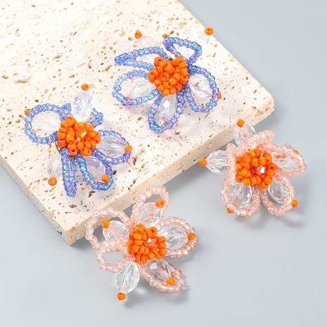 Fashion Korean beads acrylic flower earrings wholesale NHJE366176's discount tags