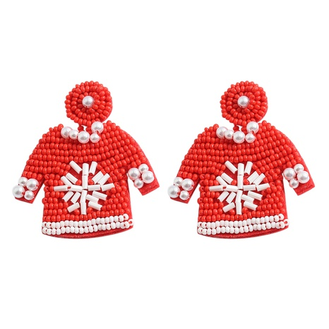 fashion beads color hand-woven Christmas earrings NHJQ366208's discount tags