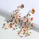 bohemian ethnic colorful handmade beaded tassel earrings NHJQ366209