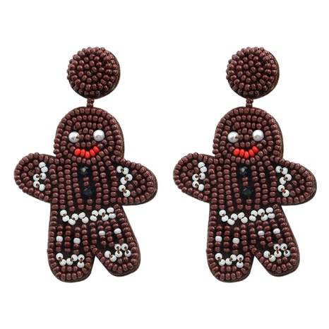 cartoon color hand-woven beads Christmas earrings NHJQ366211's discount tags