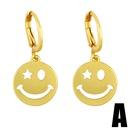 Fashion Emoji Smiley  Glossy Earrings NHAS366216