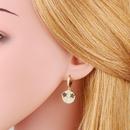 Fashion full diamond star eyes smiley face earrings  NHAS366219