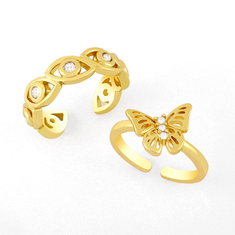 simple diamond eye butterfly ring  NHAS366234