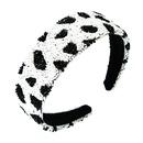 Glass tube leopard stripe headband zebra pattern broadsided headband NHLN366240