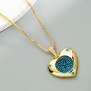 fashion heart of the ocean pendant copper inlaid zircon necklace NHLN366248