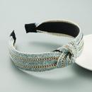 Straw mat woven and knotted headband  NHLN366254